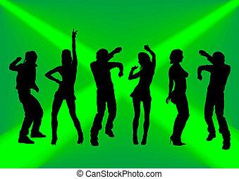 sfondo verde, ballo