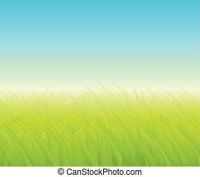 sfondo verde, con, erba