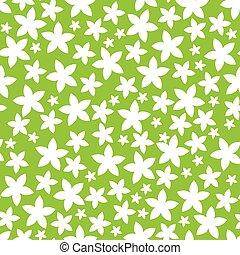 Fiori Sfondo Verde Verde Fiori Foglia Fondo