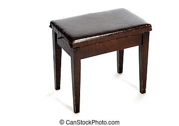 Sgabello pianoforte e pianoforte dell annata u foto stock rose