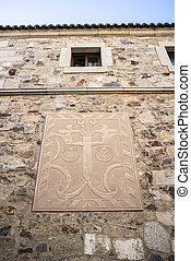 Sgraffito with Cross of Saint James, Caceres, Spain