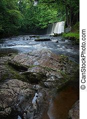 Sgwd Ddwli Uchaf waterfalls South Wales