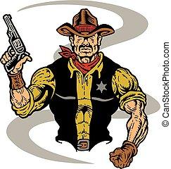 shérif, cow-boy