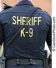 shérif, k-9, unité