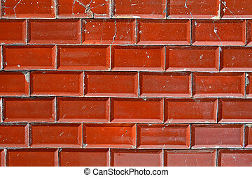 shabby brown red brick wall, textured background