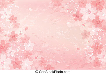 Pretty, beautiful Shabby Chick Cherry blossom background. File contains Clipping mask, Gradients, Transparent, Gradient Mesh.