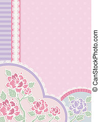 Shabby Chic Corner Border - IIlustration Featuring Frilly...