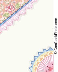 IIlustration Featuring Corner Borders with a Shabby Chic Design