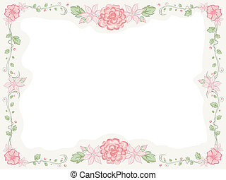 Shabby Chic Floral Frame - Shabby Chic-Themed Frame...