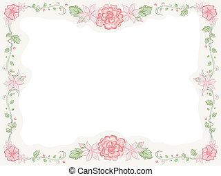 Shabby Chic Floral Frame - Shabby Chic-Themed Frame ...