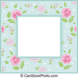 Shabby Chic Frame - Frame Illustration with a Shabby Chic...