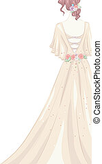 Shabby Chic Gown