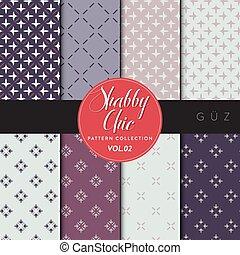 Shabby Chic - Guz - Eight shabby chic conceptual vector...