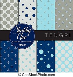 Shabby Chic Pattern Collection - Tengri - Eight shabby chic...