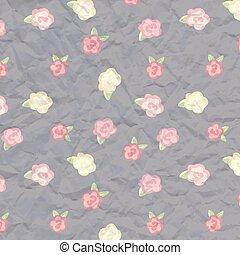 album cover. flowers paper texture