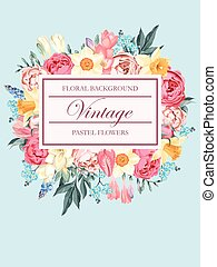 shabby-chic, vector, achtergrond