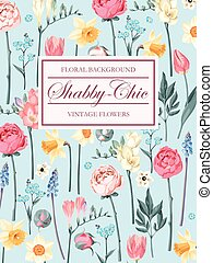 Shabby-chic vector background