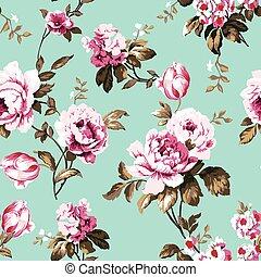 Shabby chic vintage roses seamless pattern - Shabby chic ...