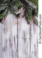 Shabby Christmas border - White shabby Christmas border with...