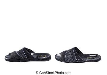Shabby home slippers.