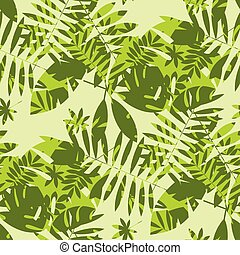 Shabby jungle camouflage seamless pattern.