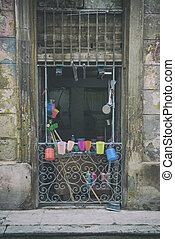 Shabby Old Havana facade