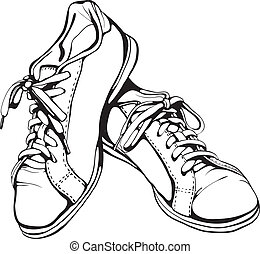 Sports footwear vector illustration. EPS8.