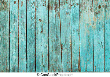 Shabby Wood Background - Battered old wooden blue wall....