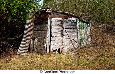 Shack - Farm shack in a field