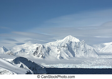 Shackleton Mountain in the west of the Antarctic Peninsula...