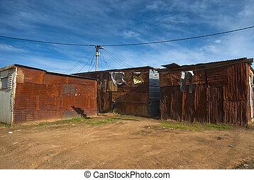 Shacks in township