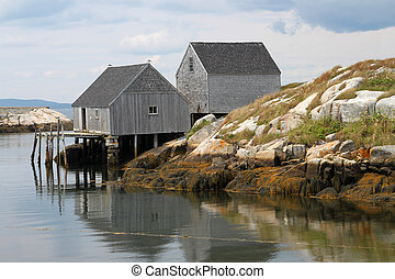 shacks, inham, visserij, peggy's