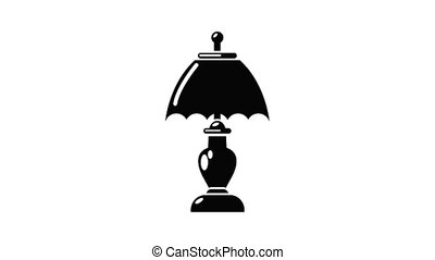 Shade lamp icon animation simple best object on white
