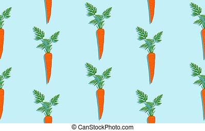 shade., seamless, bladeren, blauwe achtergrond, wortels