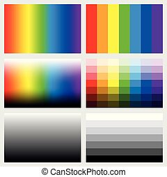 Shade Tabs Color Grayscale Gradients