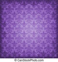 Shaded Purple Damask Background