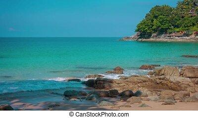 Shaded, Tropical Beach in Kamala, Thailand