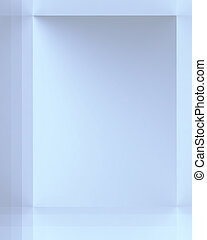 Shades of Blue - Arrangement of different sized rectangular...