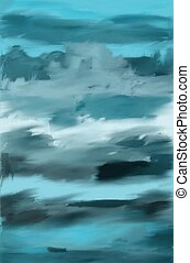 shades of blue - Created using artrage with oil paint on ...