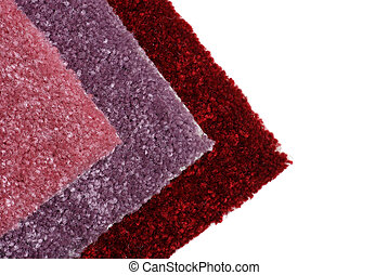 shades of red carpet samples - isolated shades of red carpet...