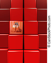 Shades of red paint