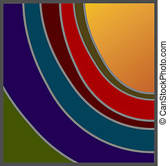 Unconventional shades of sunset design, with option for copyspace.