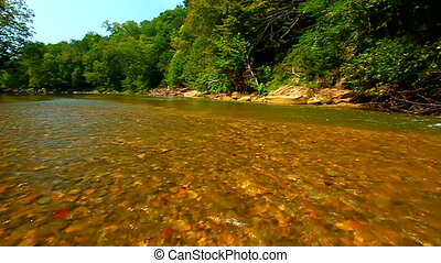 Shades State Park Sugar Creek - Sugar Creek runs through the...