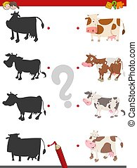 shadow activity game with cows