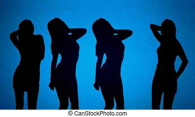 shadow dancers, matte shot of a woman dancing, good for ...