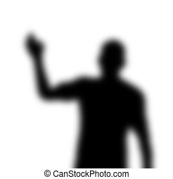 A mysterious and blurry waving shadow figure.