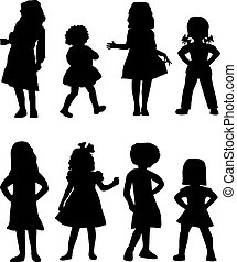 Shadow Girls - Silhouettes of kids