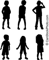 Shadow Kids - Silhouettes of kids