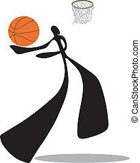 Shadow man basketball