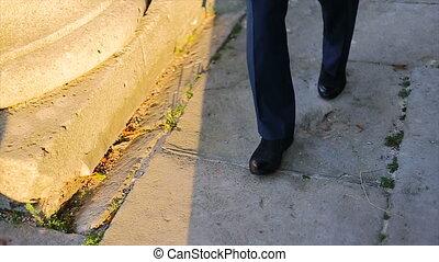 Shadow man comes slowly
